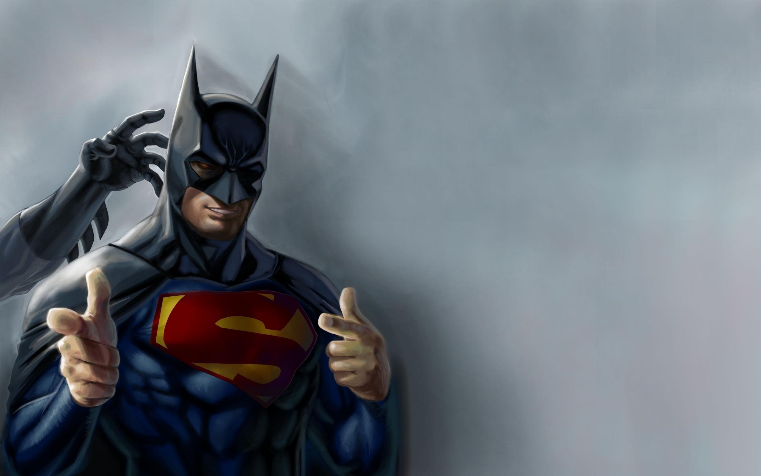 comics Batman hero supeman humor funny superhero wallpaper background 2560x1600