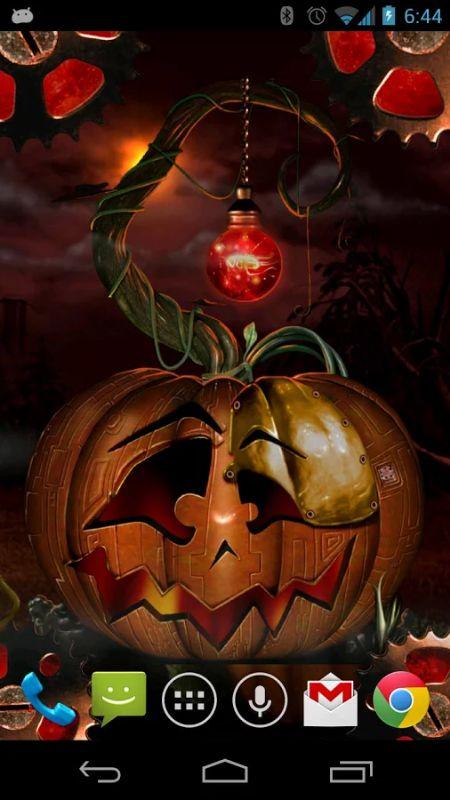 Menu Wallpapers Live Halloween Steampunkin LWP 450x800