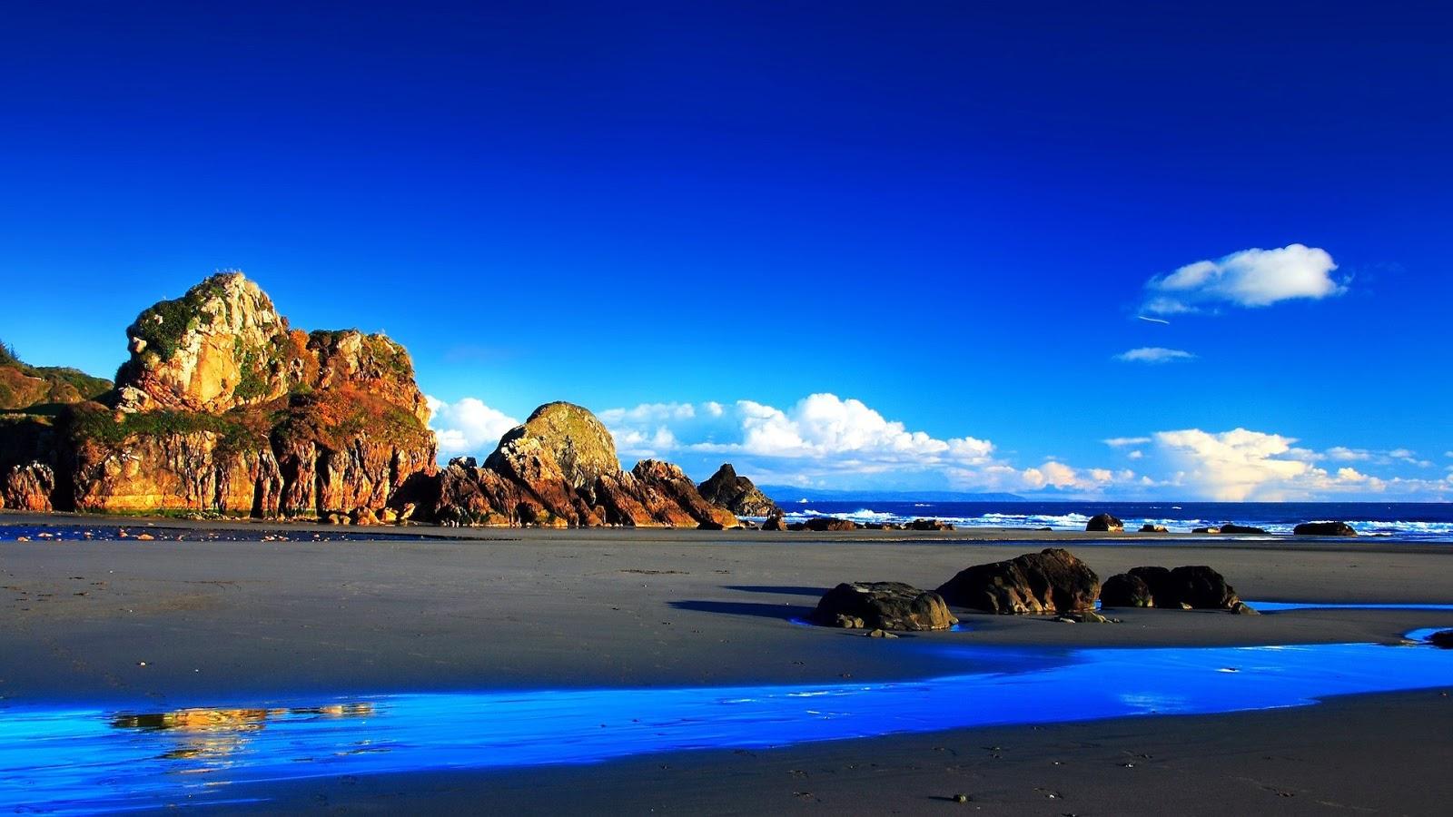 Grey Sand Beach Full HD Desktop Wallpapers 1080p 1600x900