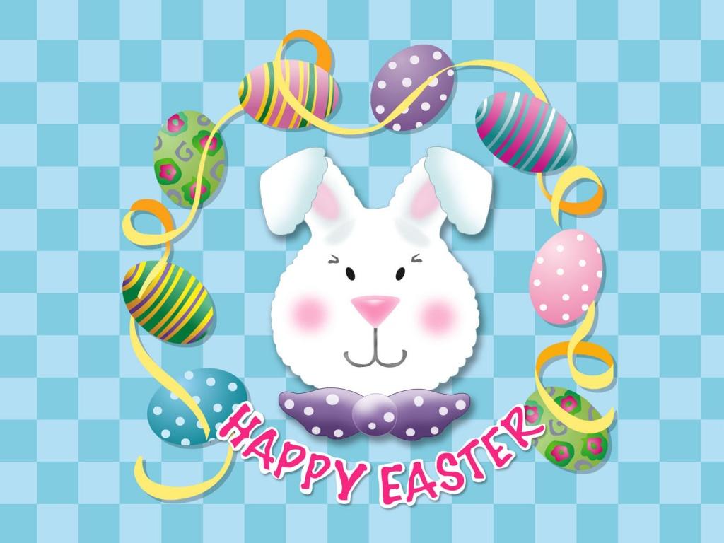 1024x768 Easter bunny head desktop PC and Mac wallpaper 1024x768