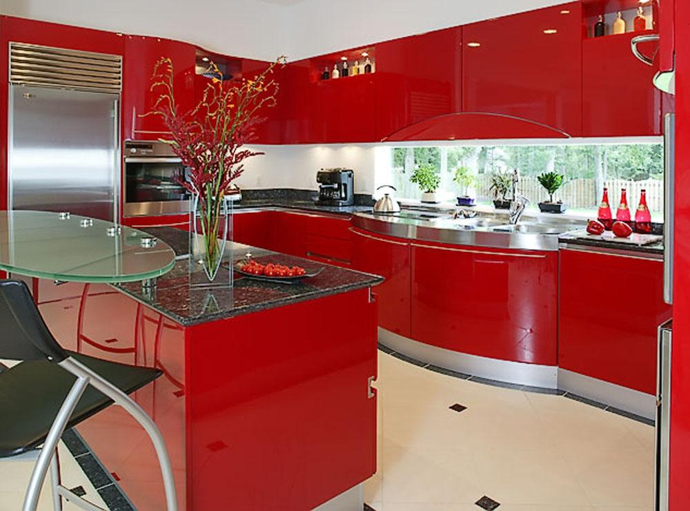 Red Kitchen Wallpaper Desktop Backgrounds 1000x740