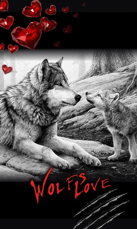 Love Wolf Best Live Wallpaper   screenshot 480x800