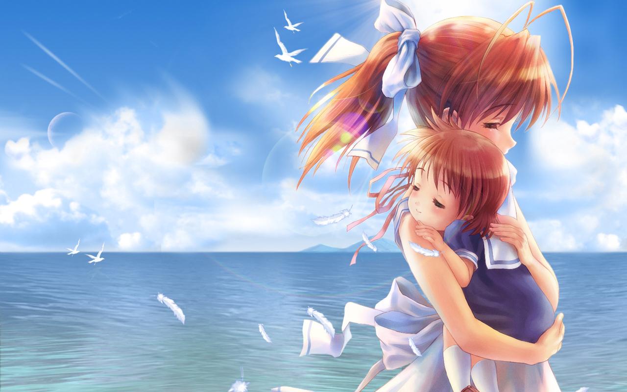Kids Clannad Wallpaper 1280x800 Kids Clannad Hug Okazaki Ushio 1280x800