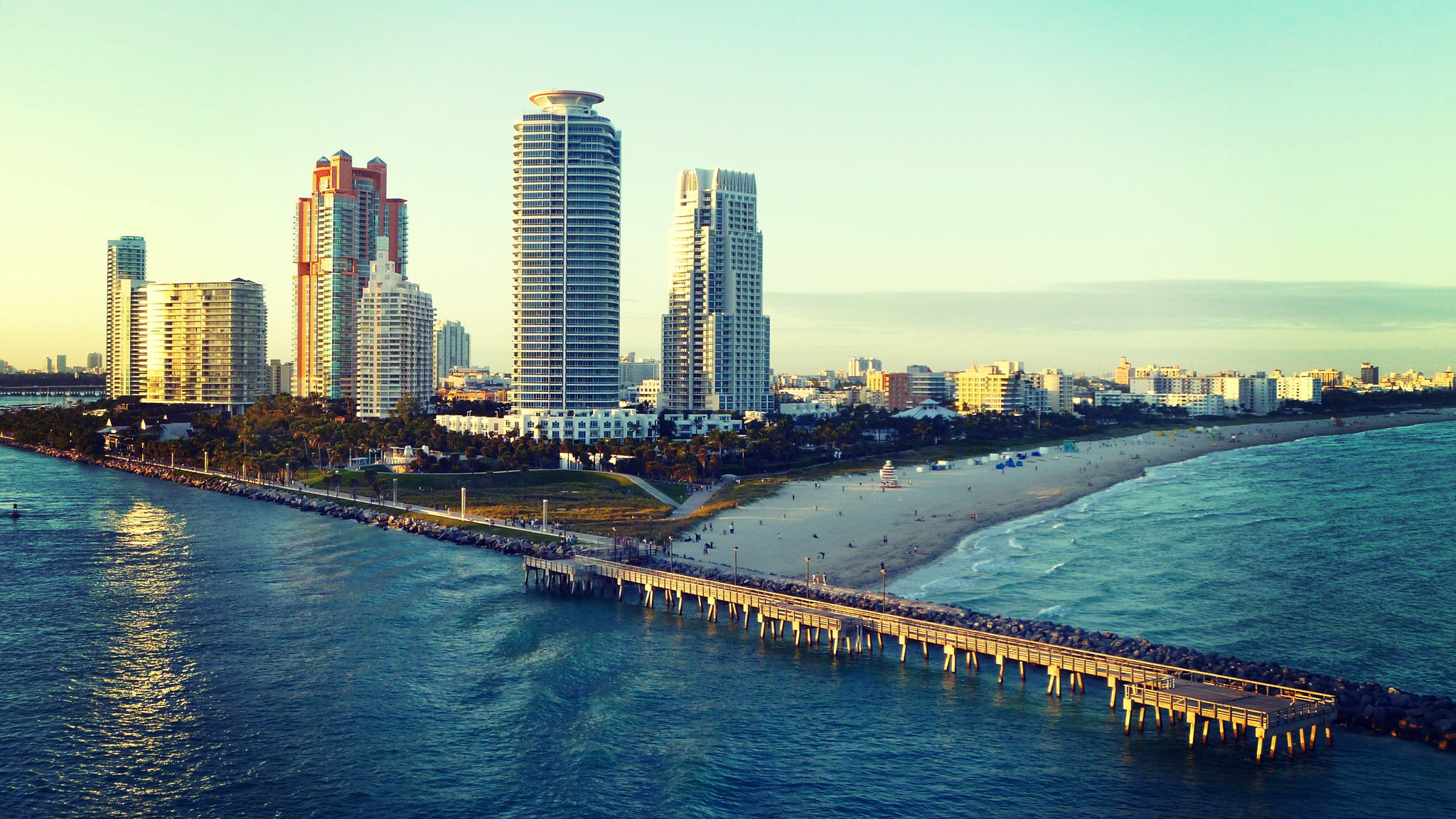 Miami fl florida miami miami beach ocean beach wallpapers 2048x1152