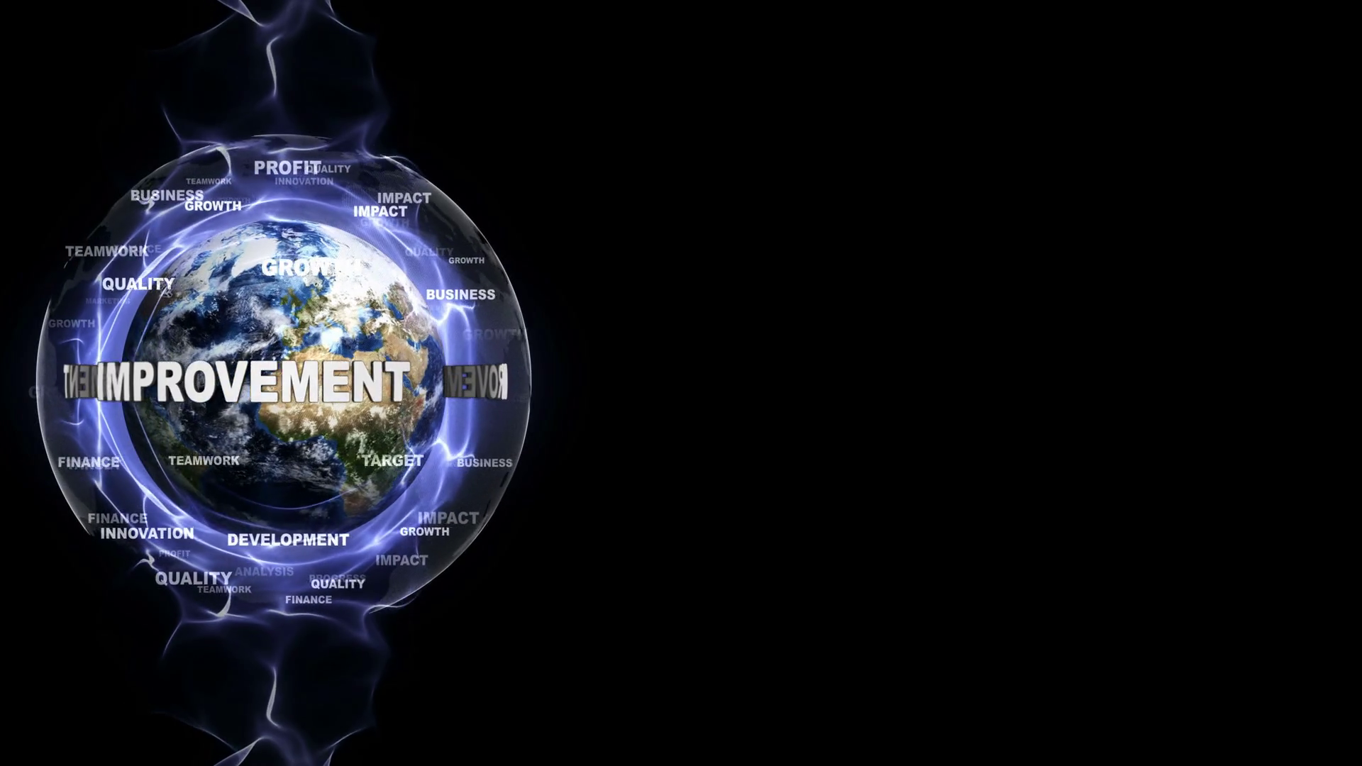 IMPROVEMENT Text and Keywords Around the World Rendering 1920x1080