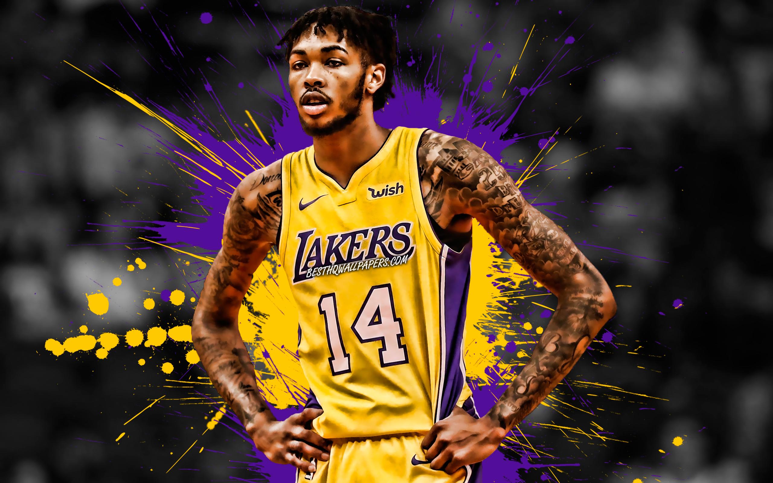 Download wallpapers Brandon Ingram American basketball player 2560x1600
