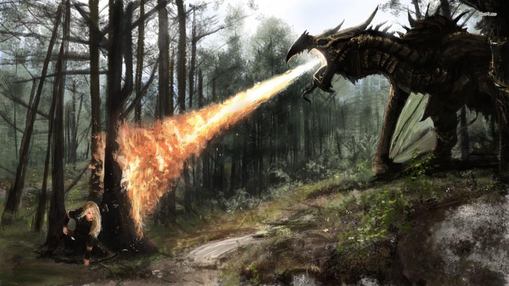 The Elder Scrolls V Skyrim Dragon HD Wallpaper   Stylish HD Wallpapers 1024x576