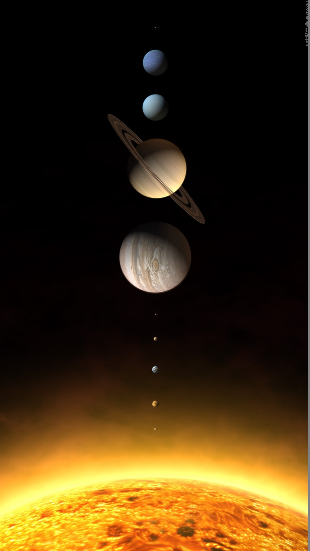 download Realistic Solar System Planets Rendering iPhone 6 HD 1080x1920