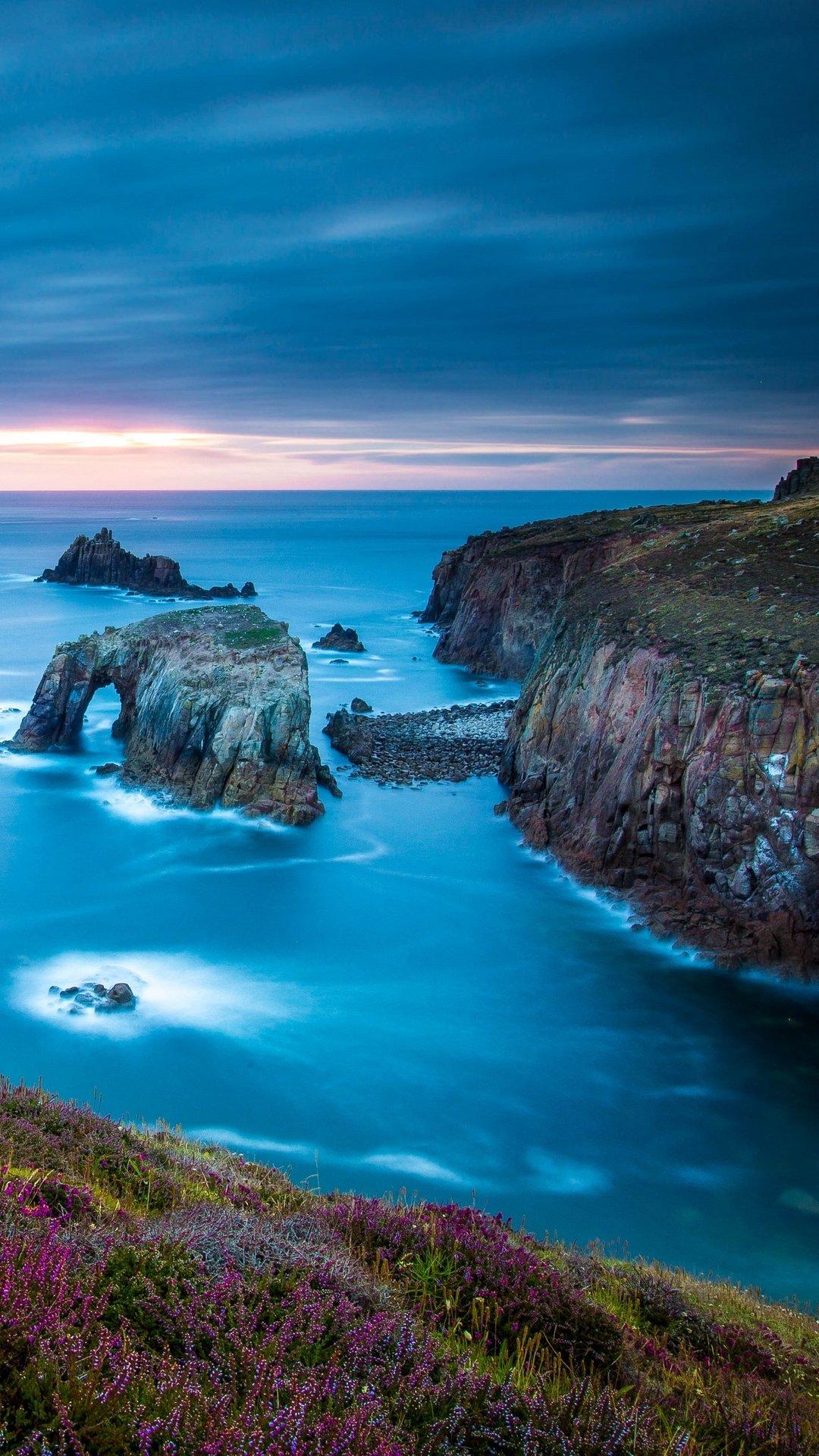 Cornwall England Celtic Sea Cape Lands Wallpaper   [1080x1920] 1080x1920