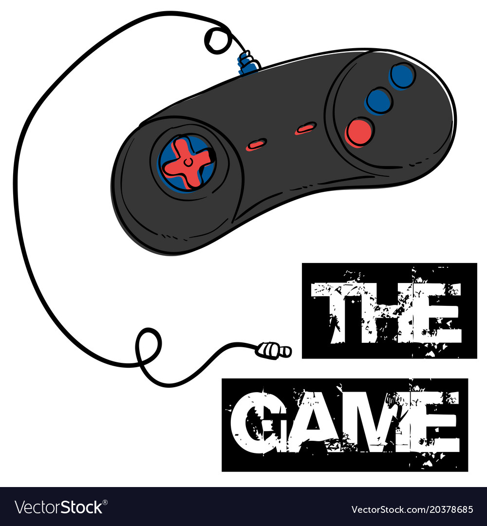 The game joystick background image Royalty Vector Image 1000x1080