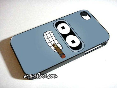 Futurama Bender Cigar Wallpaper iPhone Case 55S 500x375