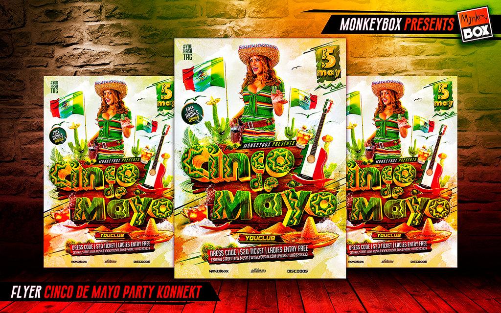 Flyer Cinco de Mayo Party Konnekt by AndyDreamm 1024x640