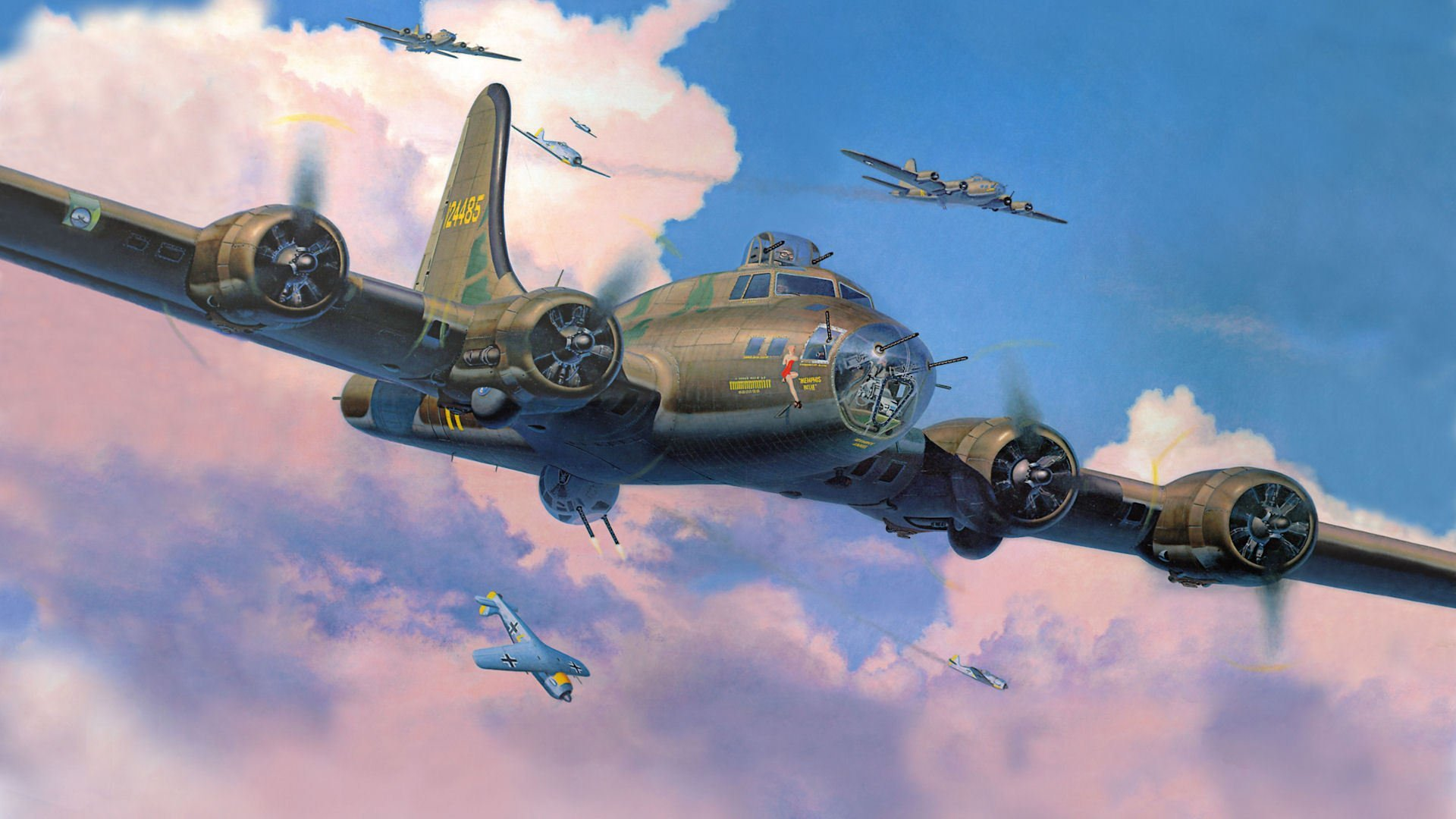 boeing b 17 flying fortress flying fortress bombers fighters 1920x1080