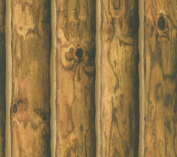 Log Cabin Wallpaper Home Decor Pinterest 600x533