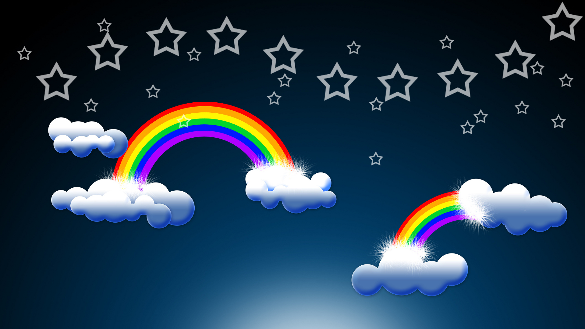 Theme Bin Blog Archive Epic Rainbow and Clouds HD Wallpaper 1920x1080