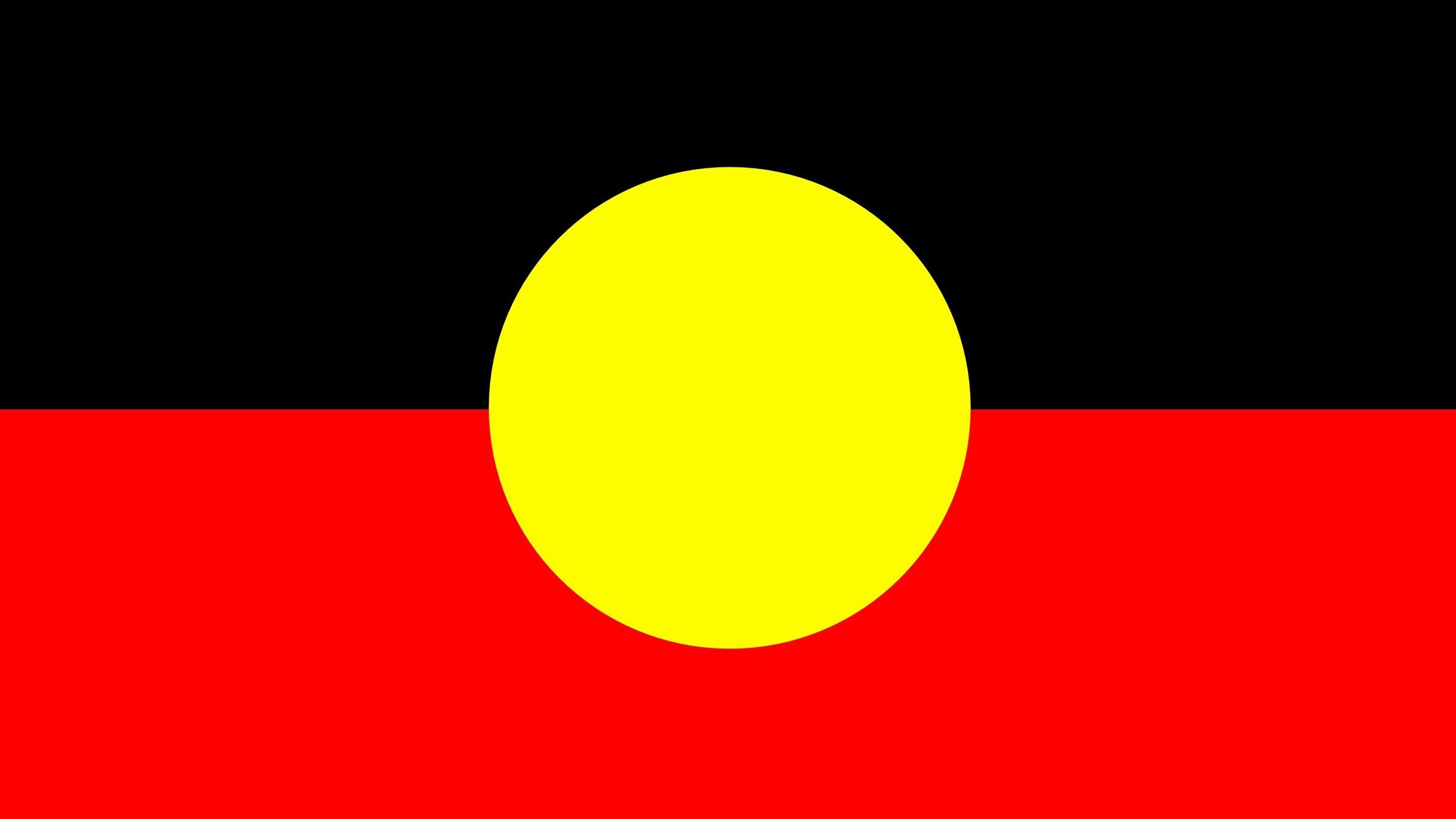 drapeau aborigne australien Papier peint AllWallpaper 2400x1350