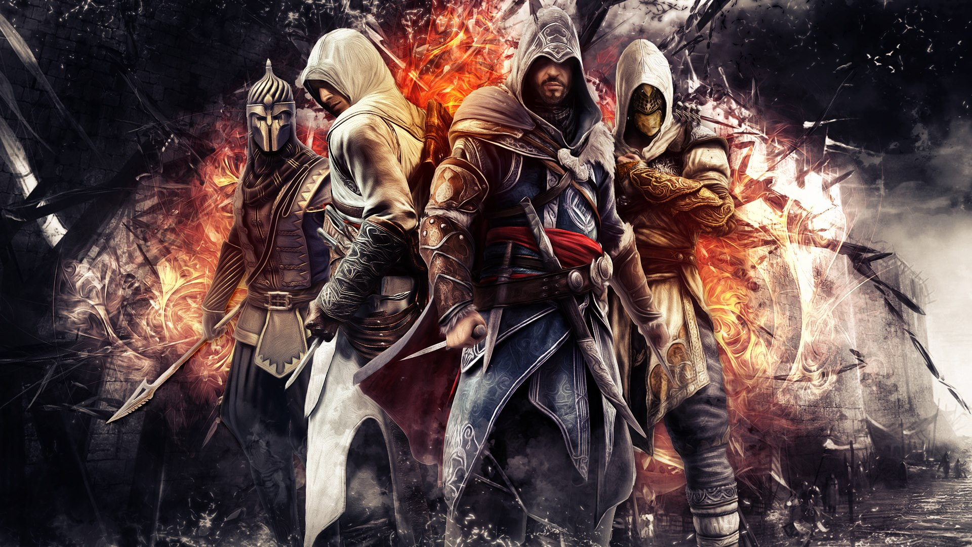 Assassins Creed Ezio Altair Epic Wallpaper   ForWallpapercom 1920x1080