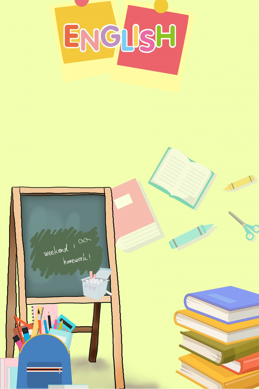 Home English Homework Poster Background Illustration Family 960x1440
