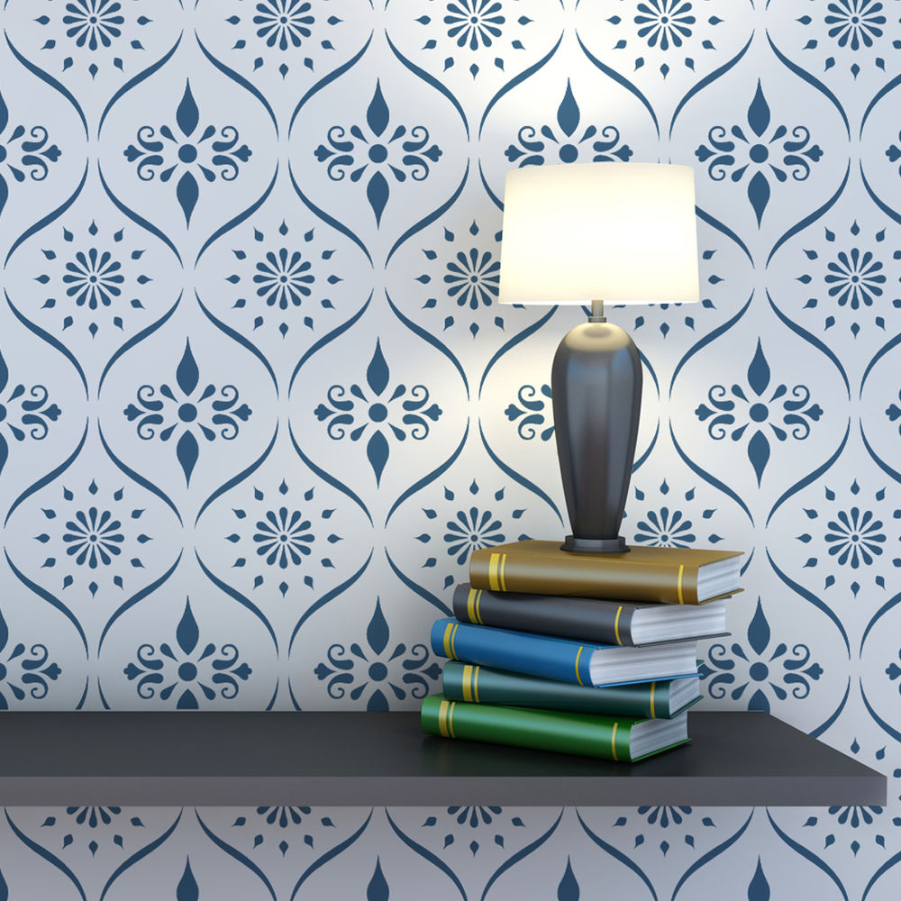 Wall Pattern Trellis Allover Stencil Bailey for Wallpaper Look eBay 1000x1000