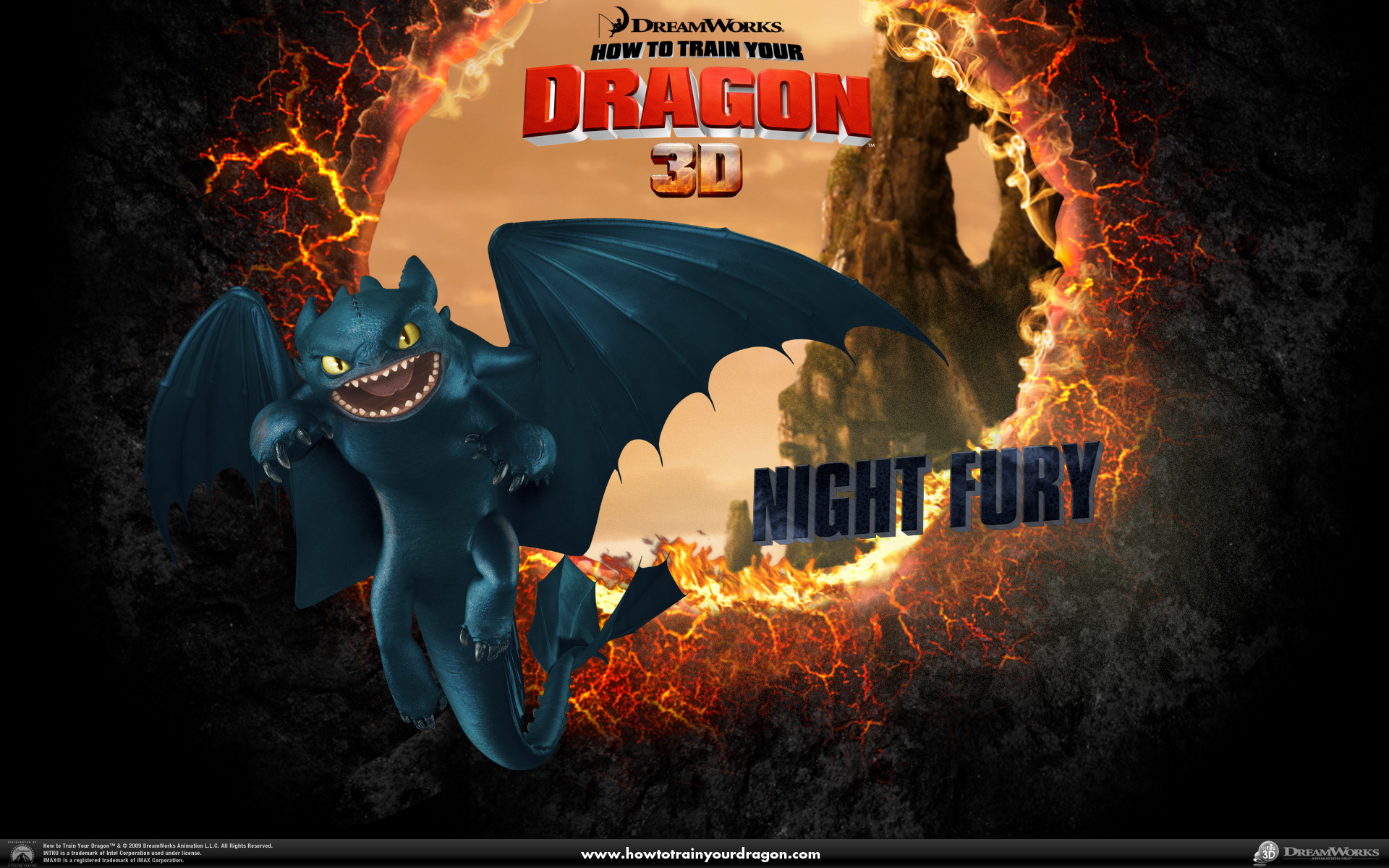Night Fury Wallpaper   Toothless the Dragon Wallpaper 1920x1200