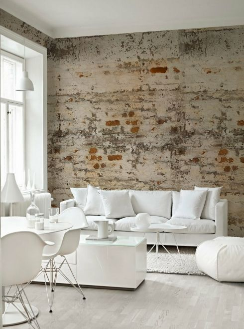 brick wallpaper Places like Decorators Best have rolls of brick 490x659