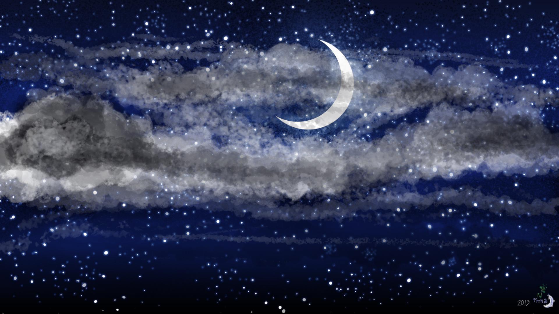 moon and stars wallpaper wallpapersafari