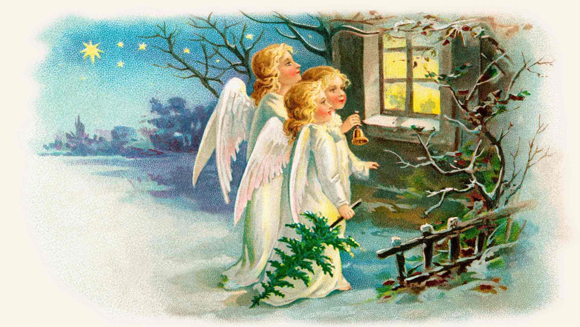 Download Christmas Angels HD Wallpapers for iPhone 5 1136x640