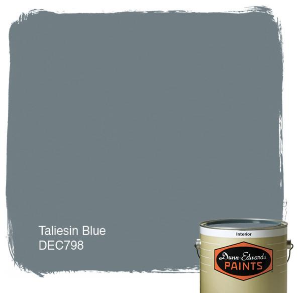 Dunn Edwards Paints Taliesin Blue DEC798 paint 595x582