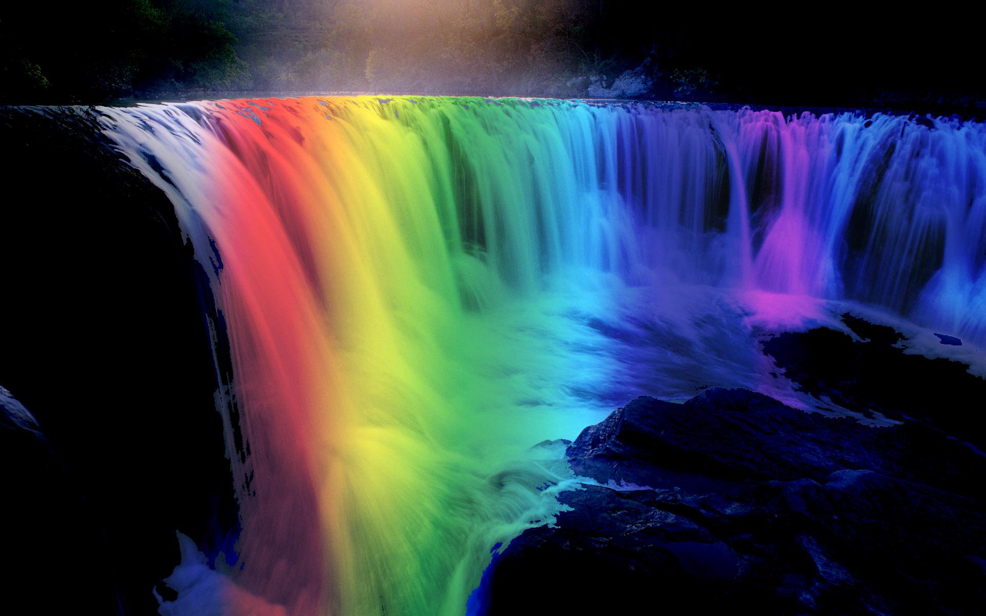 desktop wallpapers waterfalls with rainbow wallpapersafari