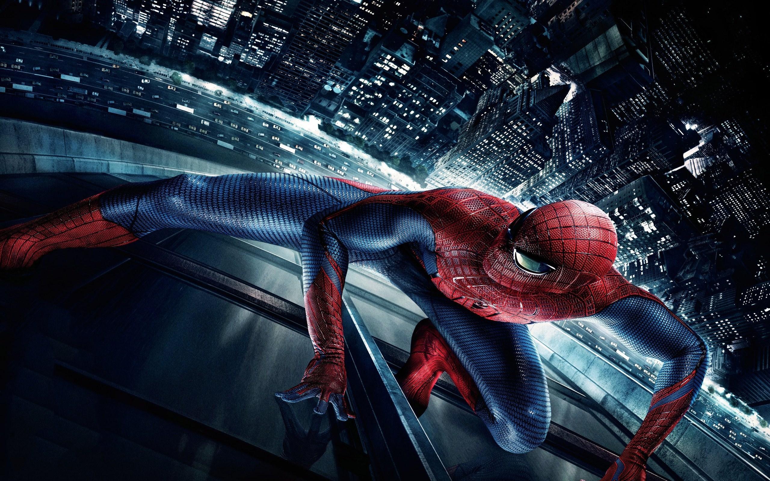 3d night city film spider man skyscraper hd wallpaper hero 2560x1600
