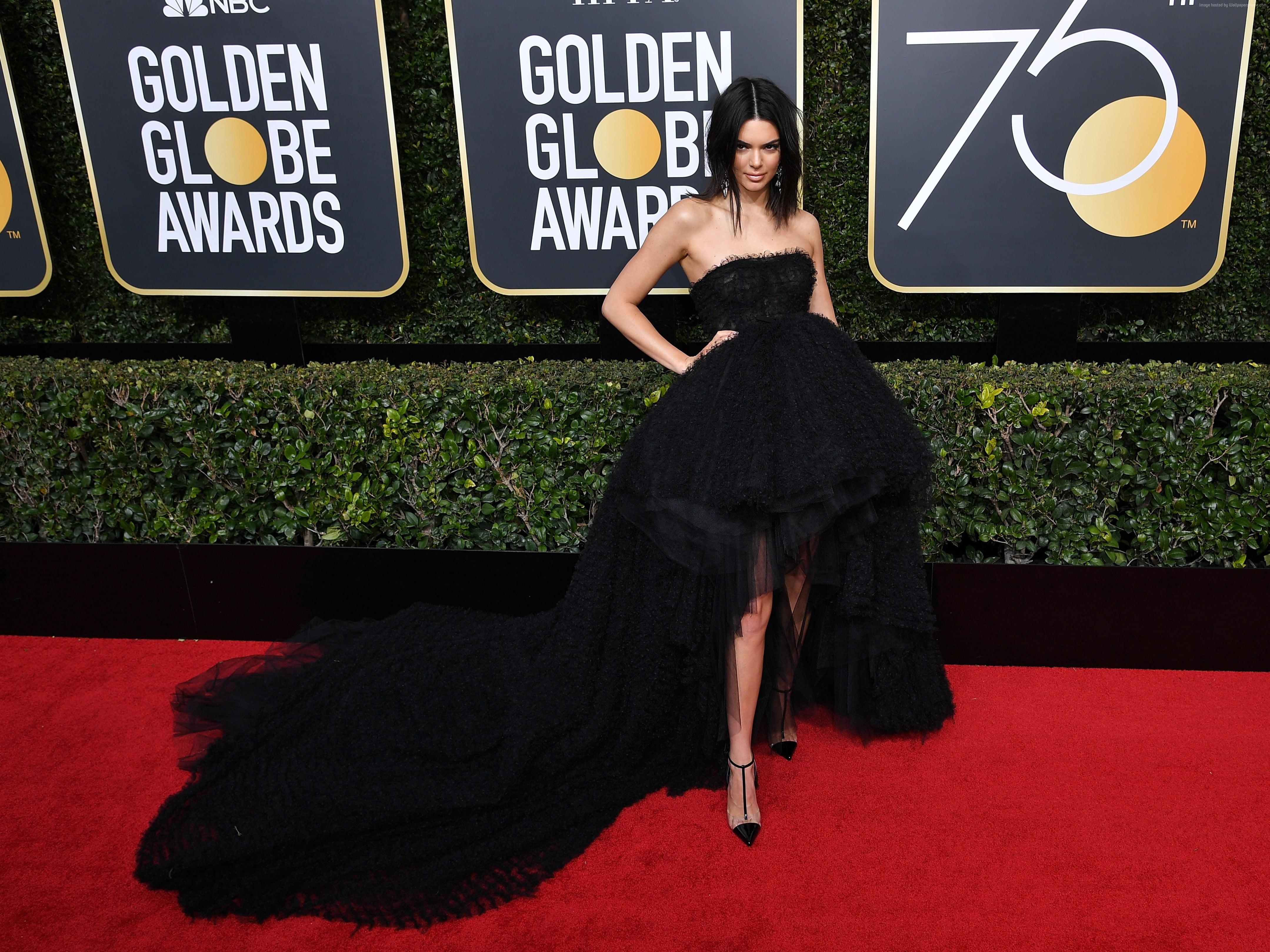 Kendal Jenner Kendall Jenner dress Golden Globes 2018 HD 4318x3238