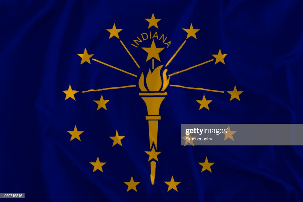 Flag Of Indiana Background The Hoosier State Stock Photo   Getty 1024x682