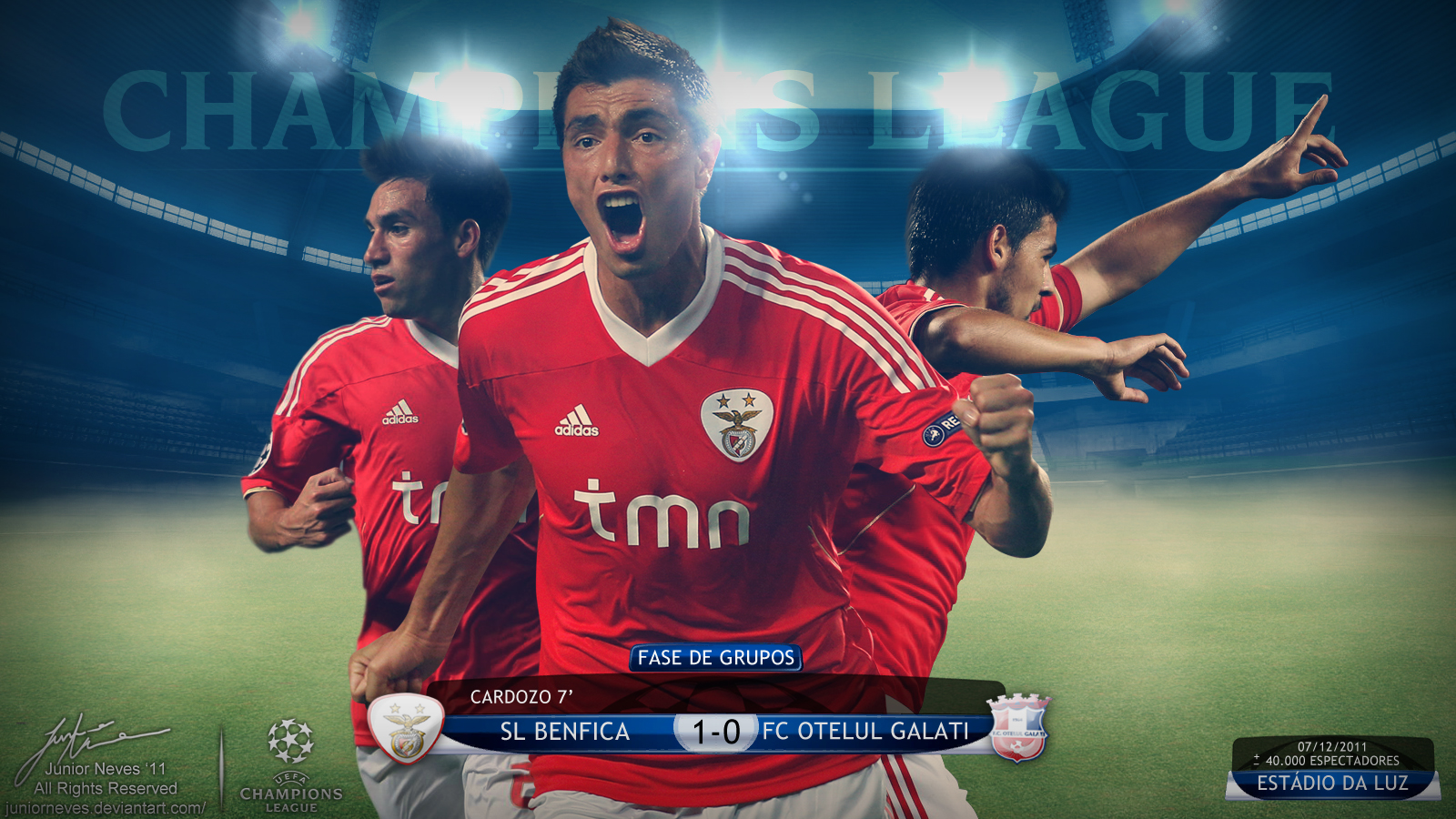 Benfica Glorioso 1904 Wallpaper Benfica Champions League 20112012 1600x900