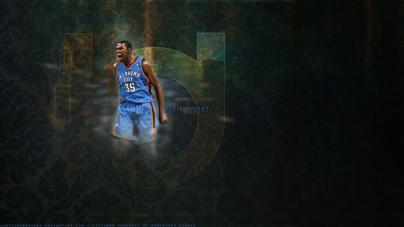 Kevin Durant Wallpaper Screaming and Celebrating NBA Picture 1600x900