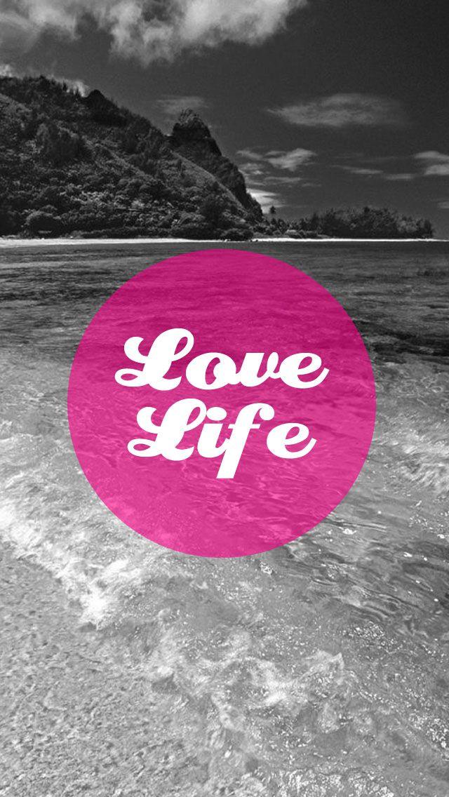 pink beach sea Love Life iphone wallpaper phone background lock screen 640x1136