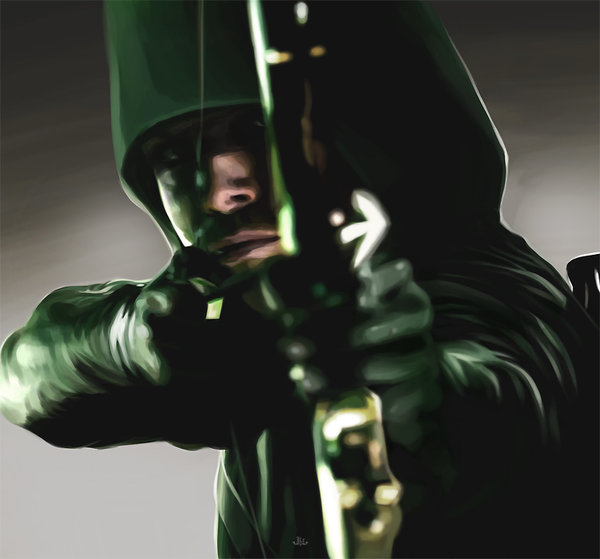 Green Arrow Wallpaper Cw Green arrow   cg painting by 600x559