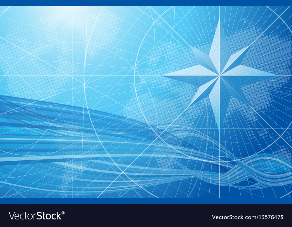 Blue compass background Royalty Vector Image 1000x780