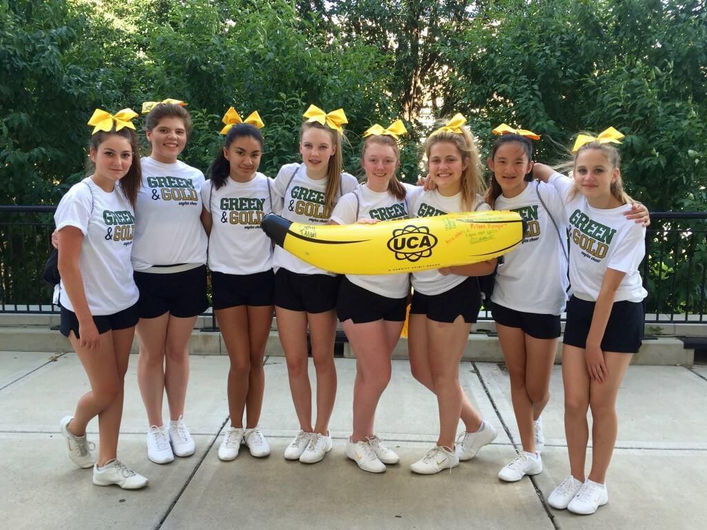 cheerleaders get uca banana award New Life Academy 1024x768