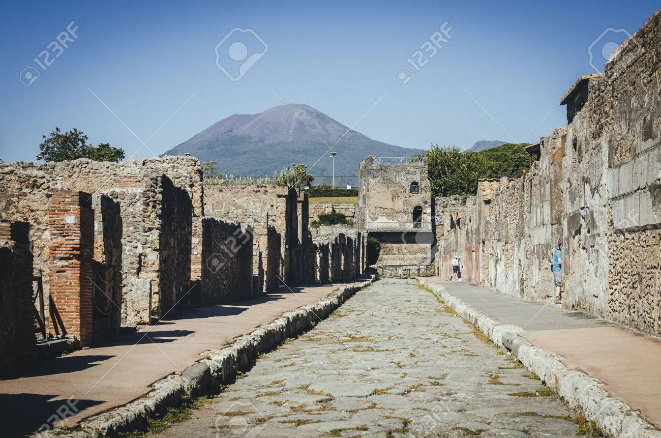 Tower Of Mercury With Volcano Mount Vesuvius In The Background 1300x861
