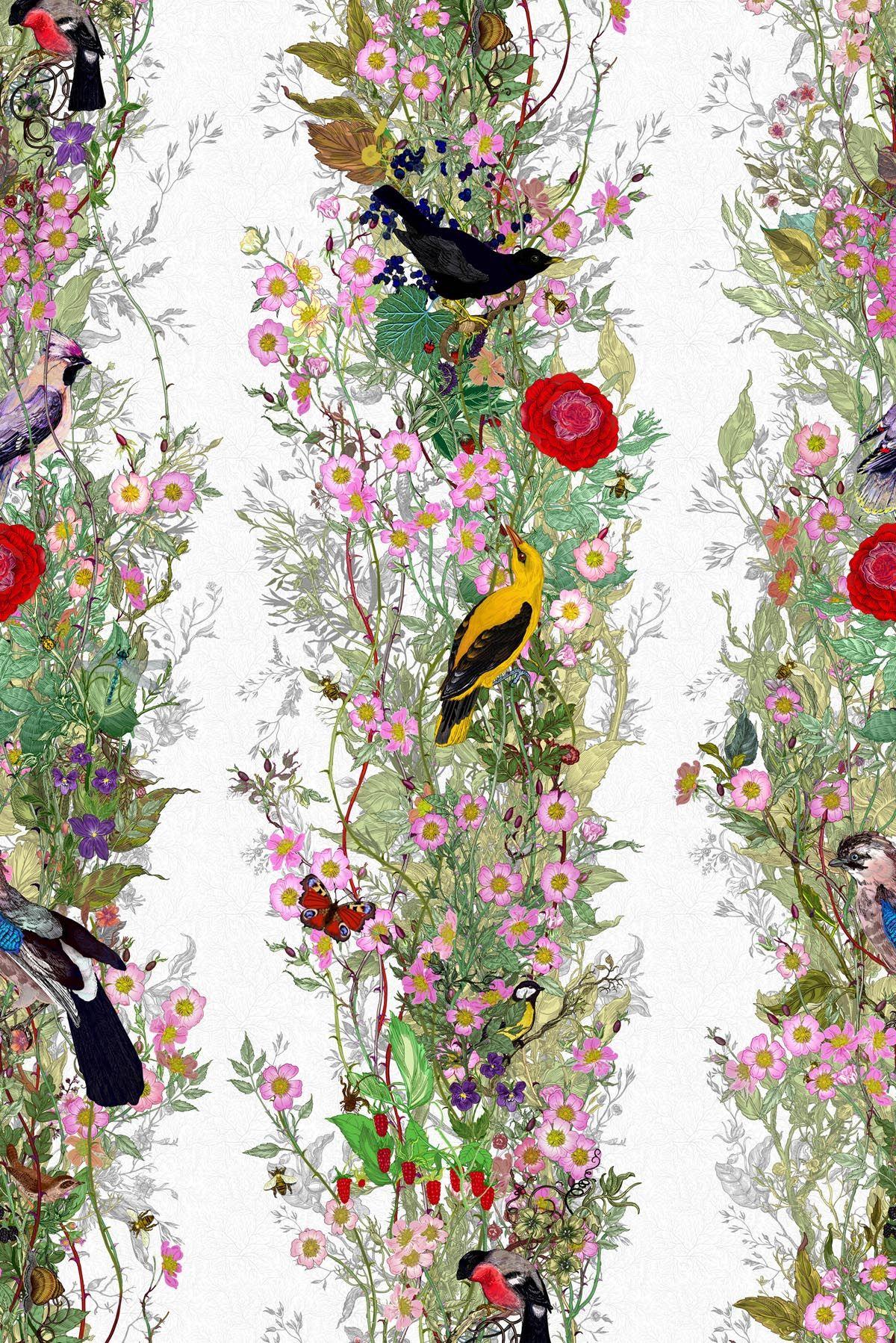 Timorous Beasties Wallcoverings   Fruit Looters wallpaper 1200x1798