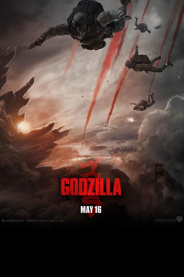 Godzilla Movie 2014 HD iPhone iPad Wallpapers 640x960