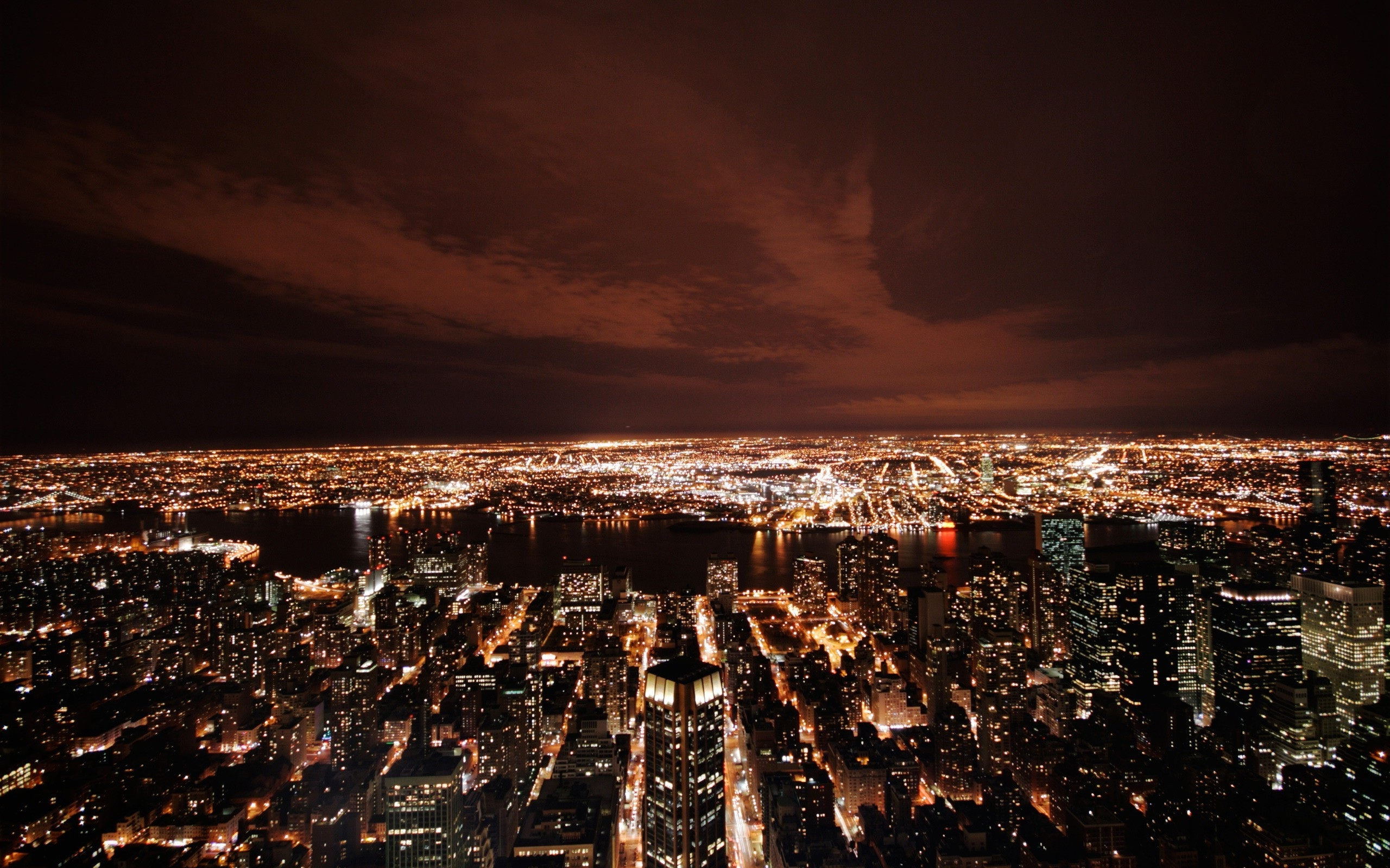 Big City Lights by Night   Desktop Backgrounds 2560x1600