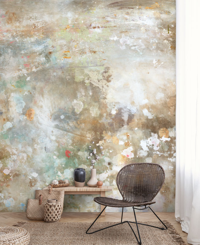 Cream Distressed Shabby Chic Wall Mural   Feathr Wallpapers 653x800