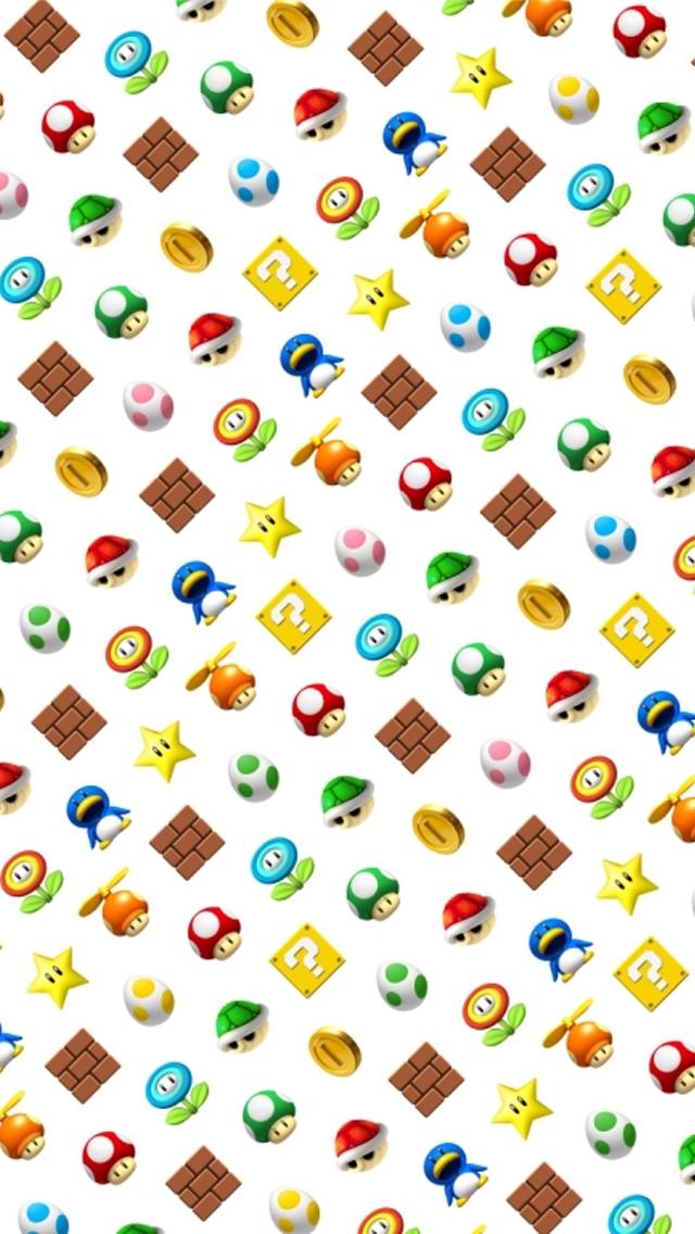 Mario Background iPhone 5 Wallpaper 640x1136 640x1136