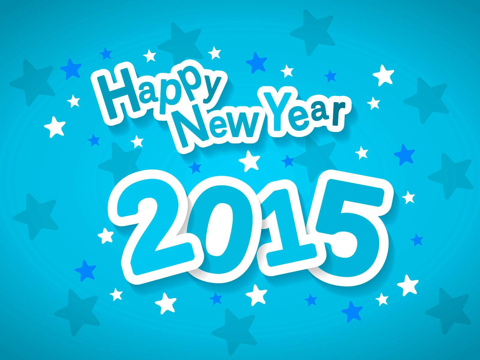 Happy New Year 2015 style blue wallpaper colorful Wallpaper Better 1600x1200