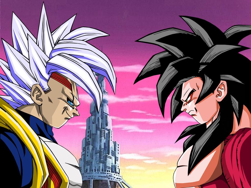 Wallpaper Baby Vegeta vs Goku Ssj4 by Dony910 1024x768