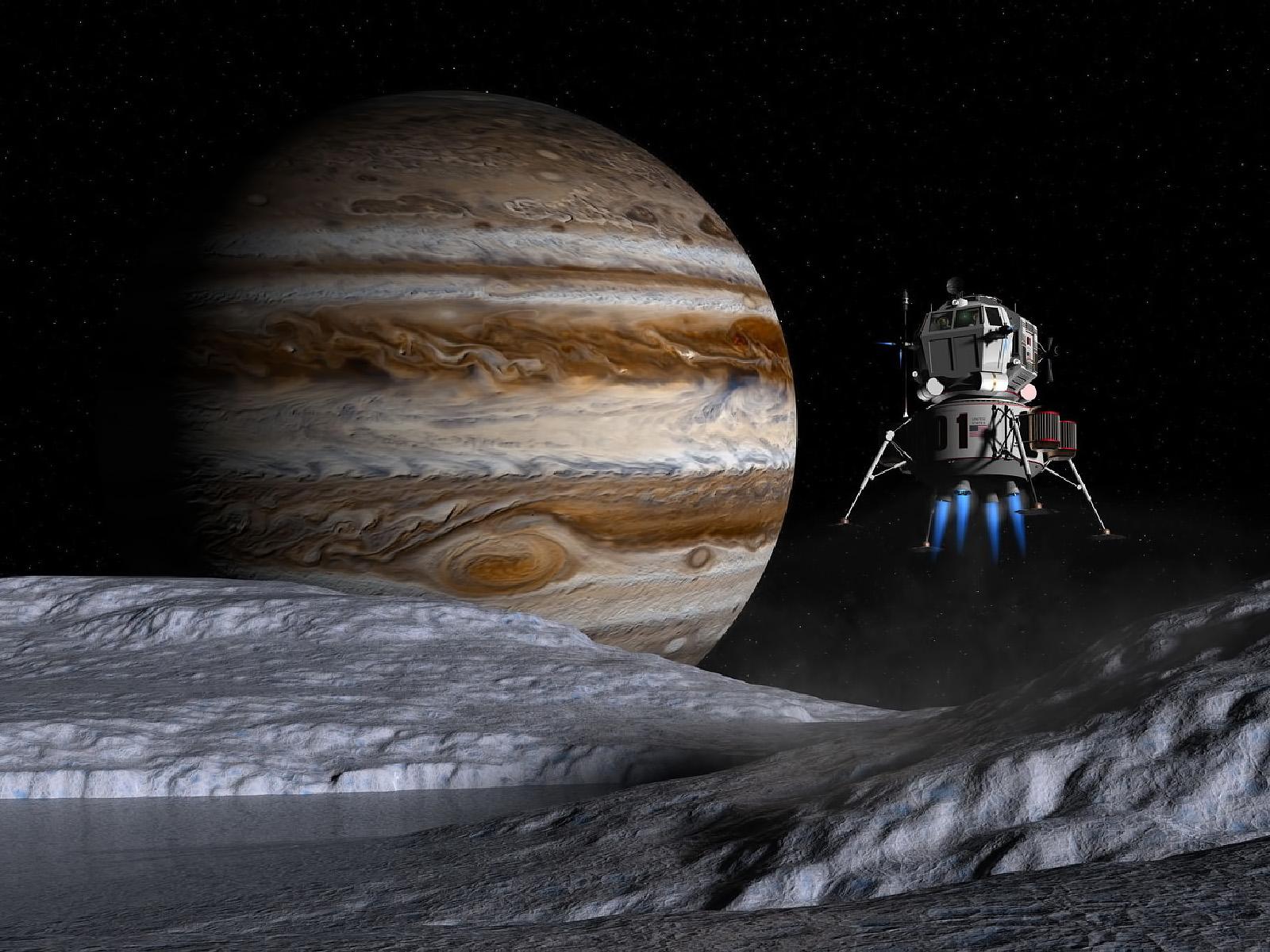 Download High quality Jupiter Europe satellite Science Fiction Sci fi 1600x1200