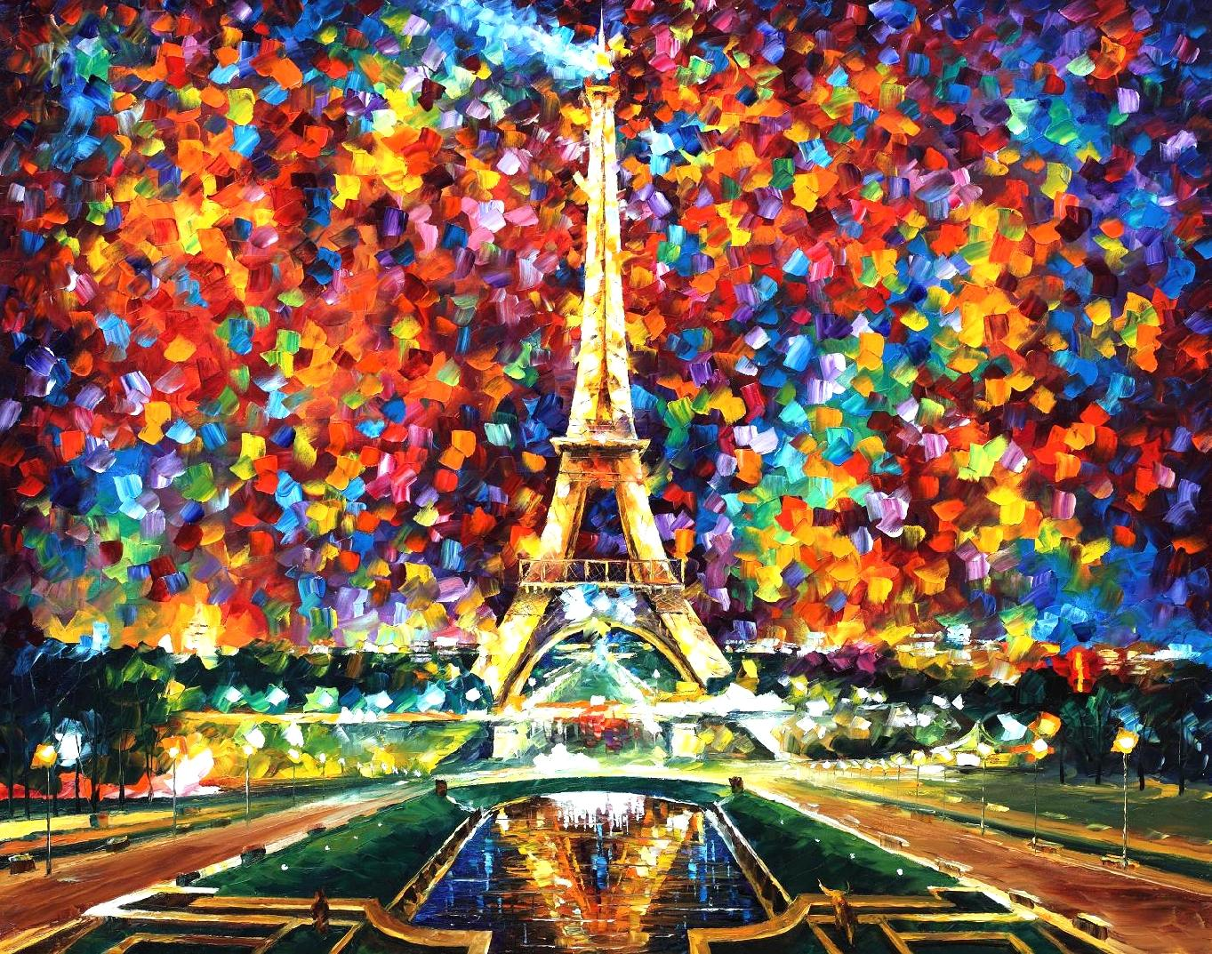 Leonid Afremov Paris Of My Dreams wallpaper 168039 1363x1073
