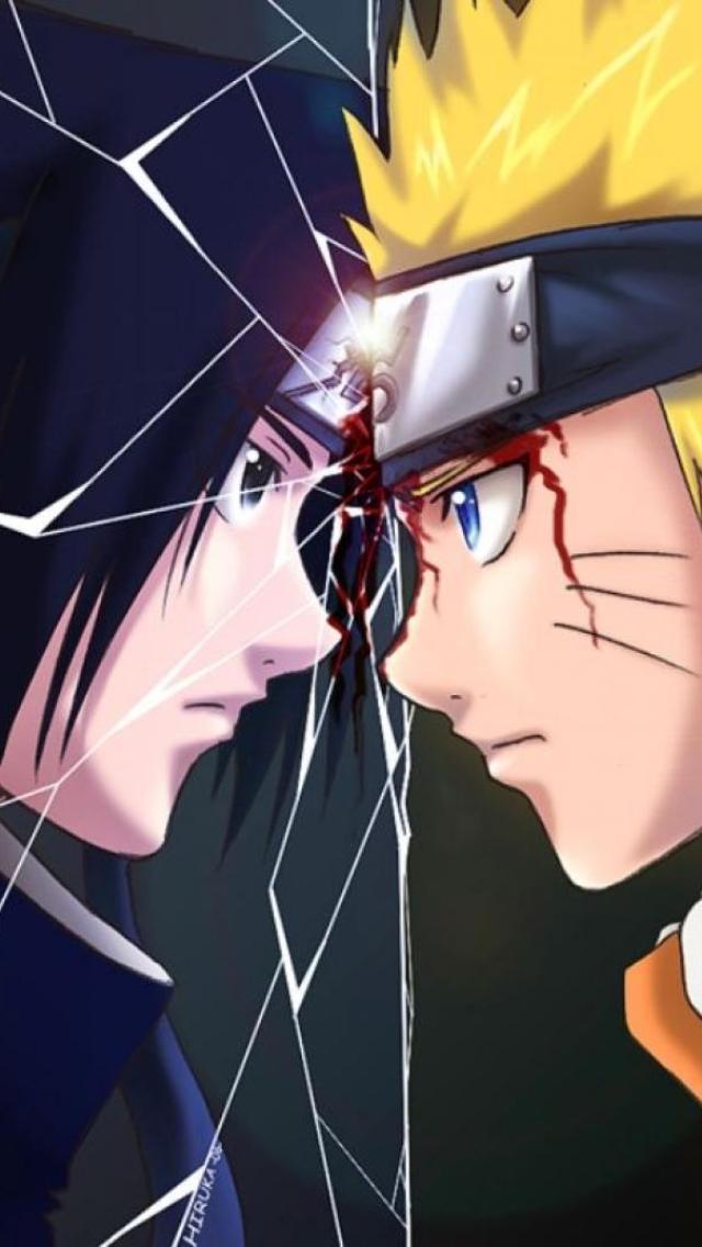 Sasuke vs Naruto iPhone 5 Wallpaper 640x1136 640x1136