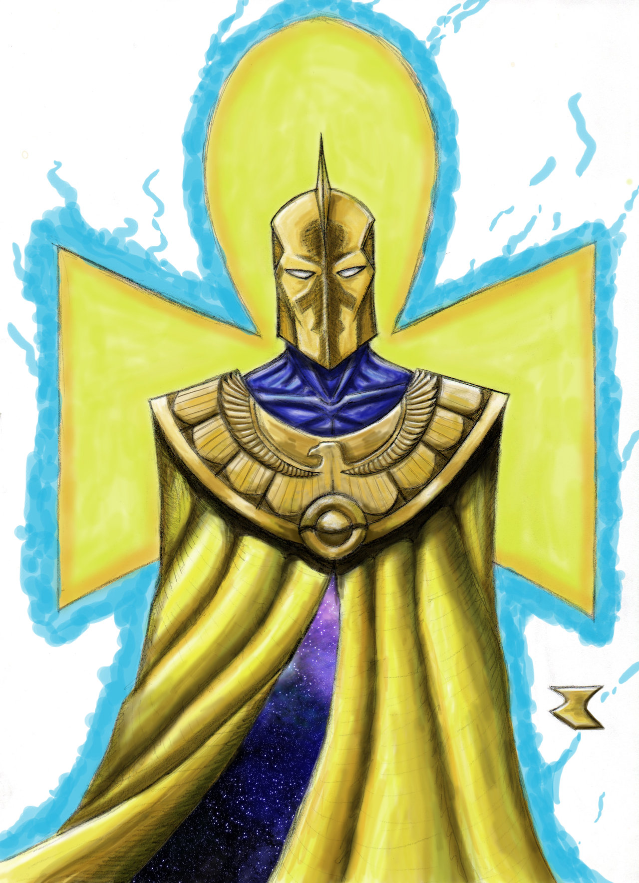 Doctor Fate redesign   color by BigRobot 1280x1767
